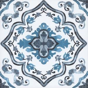 Marrakesh 12 in. W x 12 in. L Blue Peel and Stick Vinyl Tile Flooring (20 sq. ft./Case)