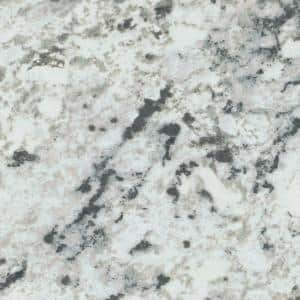 5 ft. x 12 ft. Laminate Sheet in White Ice Granite with Premiumfx Etchings Finish