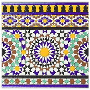 Sevillano Andalusia Cenefa 7-7/8 in. x 7-7/8 in. Ceramic Wall Border Tile (0.43 sq. ft./Each)