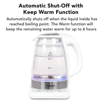 6-Cup White Raw Tea Kettle