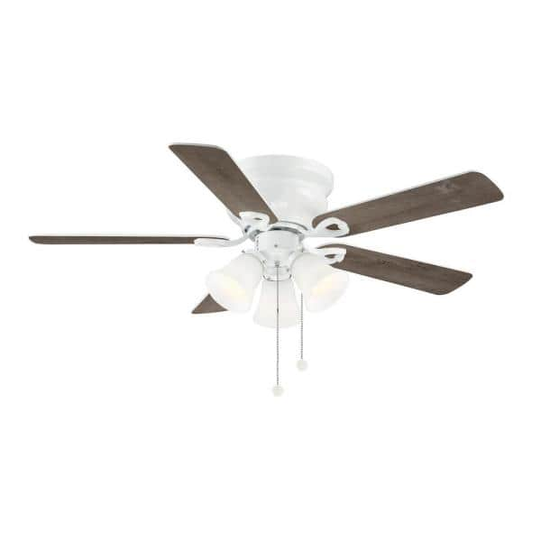 Clarkston Ii 44 In Led Indoor White Ceiling Fan With Light Kit Sw18030 Wh The Home Depot