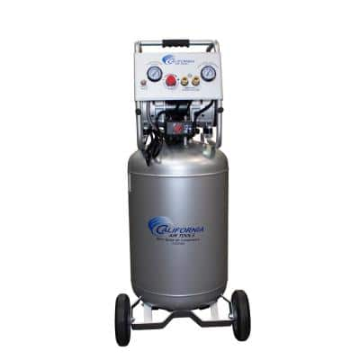 20 Gal. 2.0 HP 220-Volt 60 Hz Ultra Quiet and Oil-Free Electric Air Compressor with Automatic Drain Valve