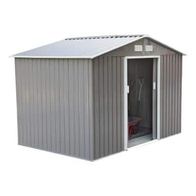 6 ft. x 9 ft. Metal Outdoor Backyard Garden Utility Storage Tool Shed Kit with Spacious Design and WeatherResistant Roof