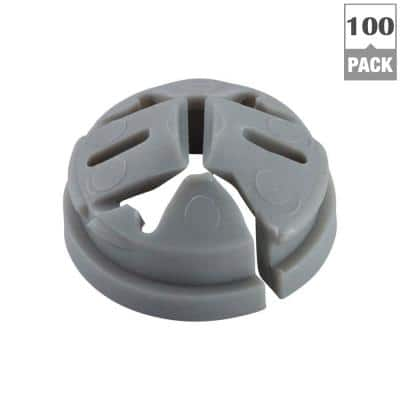 3/8 in. - 1/2 in. Knockout Non-Metallic Push-In Connector (100-Pack)