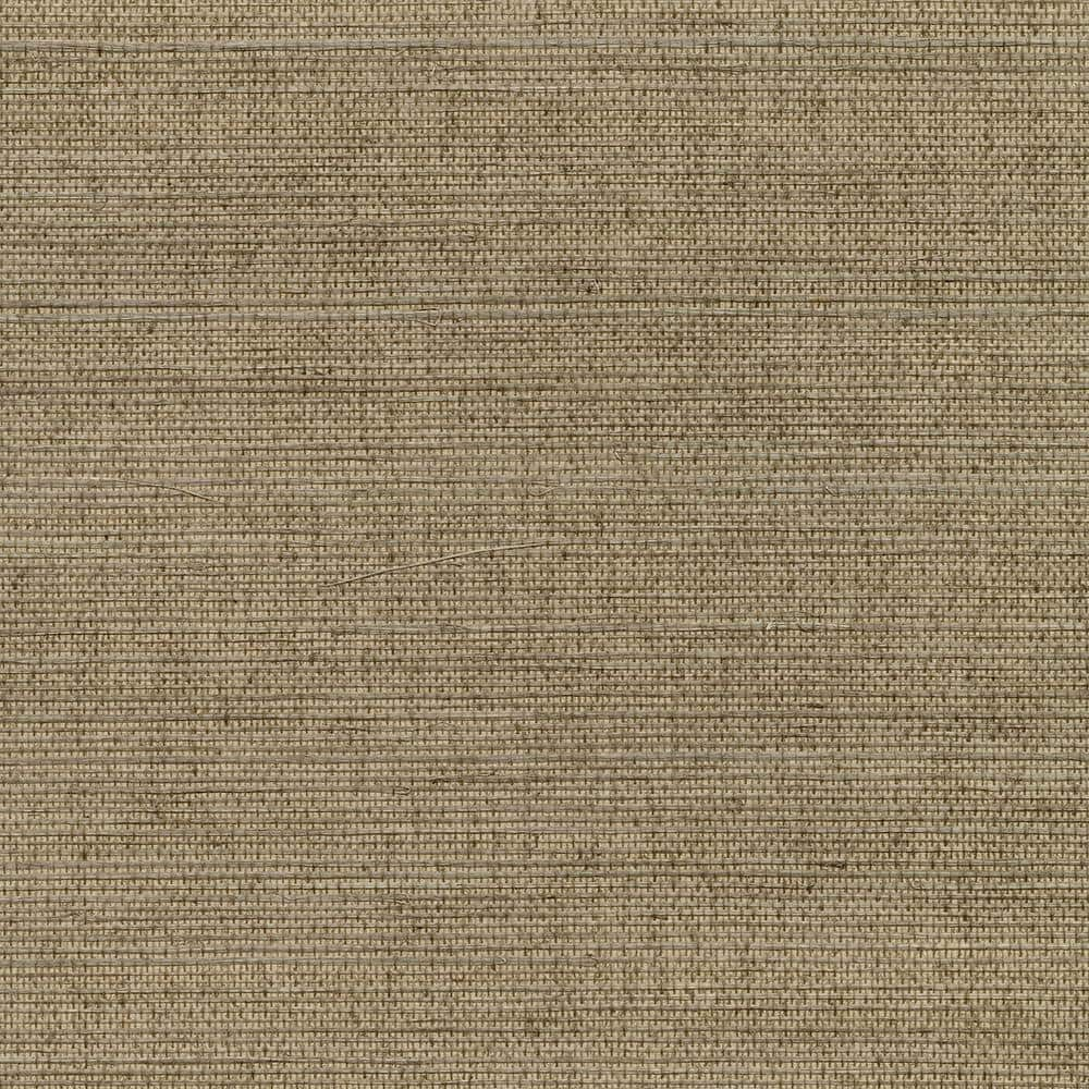 Kenneth James Kansu Brown Sisal Grasscloth Peelable Roll Covers 72 Sq Ft 2732 80086 The Home Depot