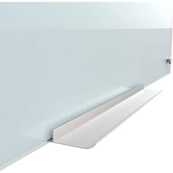 U Brands - 35 in. x 23 in. White Frosted Surface Frameless Glass Dry Erase Board
