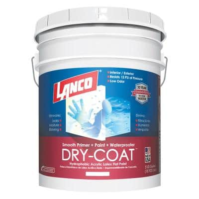Dry-Coat 5 gal. Accent Base Flat Acrylic-Latex Interior and Exterior Smooth Masonry Paint and Concrete Sealer
