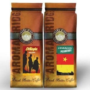 Ethiopia and Cameroon ,2lbs medium roast coffee