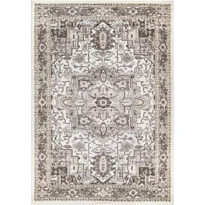 My Texas House Lone Star Belle Gray Indoor 9 ft. x 13 ft. Area Rug