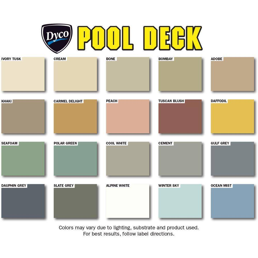 Dyco Paints Pool Deck 5 Gal 9050 Tint Base Low Sheen Waterborne Acrylic Exterior Stain Dyc9050 5 The Home Depot