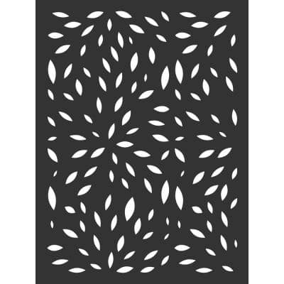 4 ft. x 3 ft. Black Wildflower Hardwood Composite Decorative Wall Decor and Privacy Panel