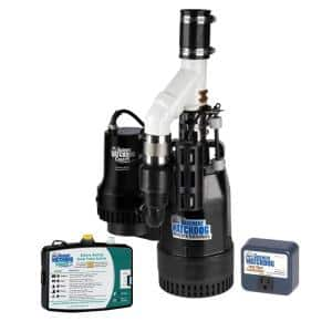 Big Combo Connect 1/2 HP Primary and Battery Backup Sump Pump System with Smart Wi-Fi Capable Monitoring Controller