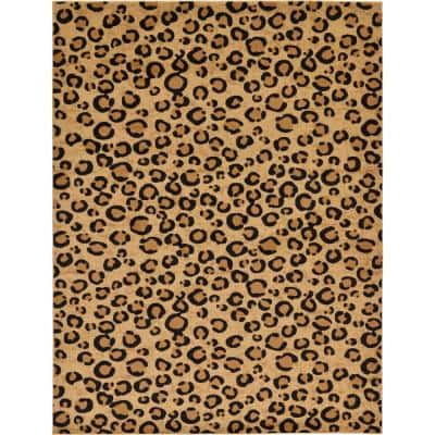 Wildlife Leopard Light Brown 9' 0 x 12' 0 Area Rug