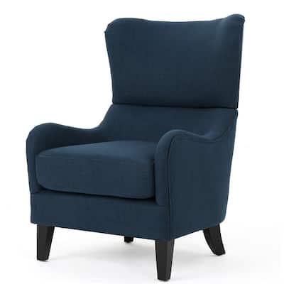 Quentin Navy Blue Fabric Sofa Chair
