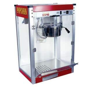 Theater Pop 8 oz. Red Stainless Steel Countertop Popcorn Machine
