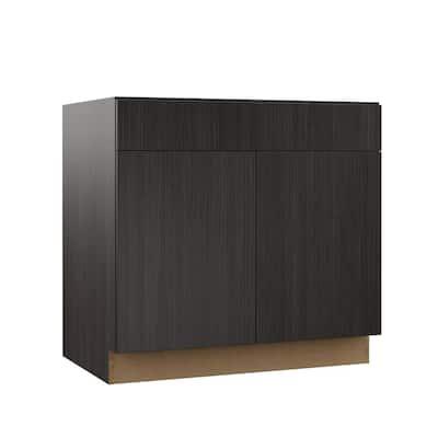 Designer Series Edgeley Assembled 36x34.5x23.75 in. Base Kitchen Cabinet in Thunder
