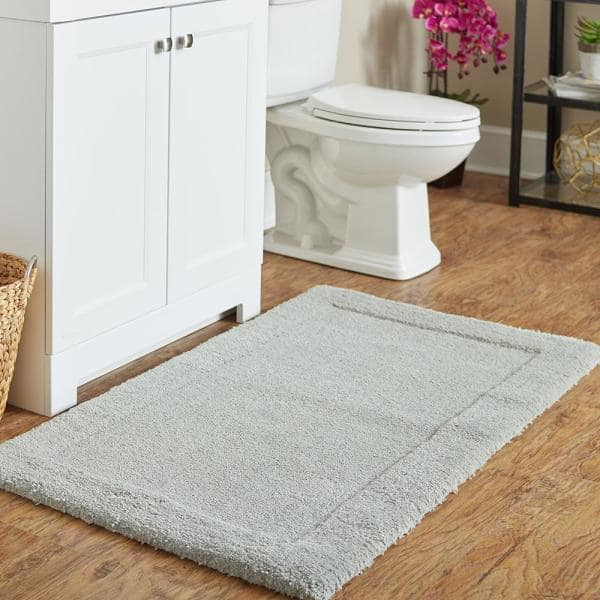 Mohawk Home Dynasty 30 In X 50 In Micro Denier Polyester Machine Washable Bath Mat In Gray 079230 The Home Depot