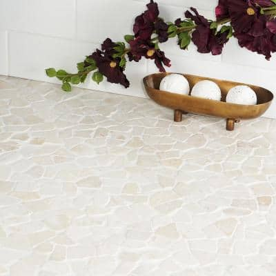 Countryside Tumbled 11.81 in. x 11.81 in. White Floor and Wall Mosaic (0.97 sq. ft. / sheet)