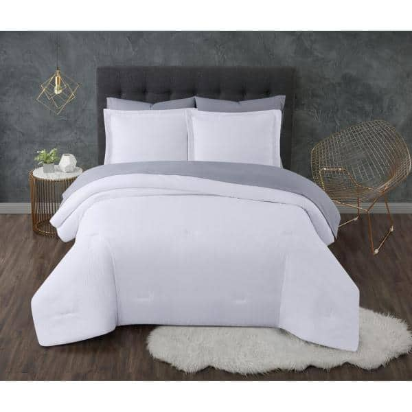 Truly Calm Antimicrobial 5 Piece White, White Bedding For Twin Bed