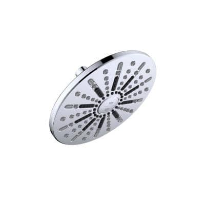 Ian Modern 2-Spray Patterns 7.9 in. Wall Mounted Fixed Shower Head in Polished Chrome