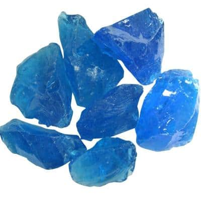0.75 in. Turquoise Recycled Fire Glass