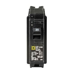 Homeline 20 Amp Single-Pole Circuit Breaker