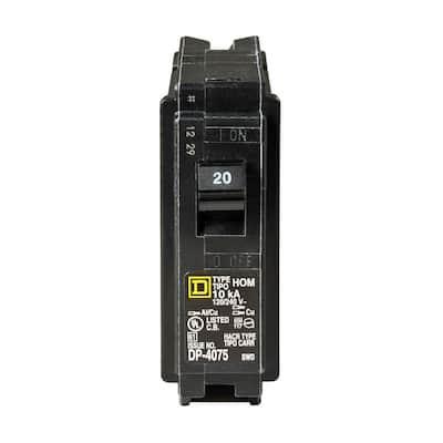 Homeline 20 Amp Single-Pole Circuit Breaker (12-pack)