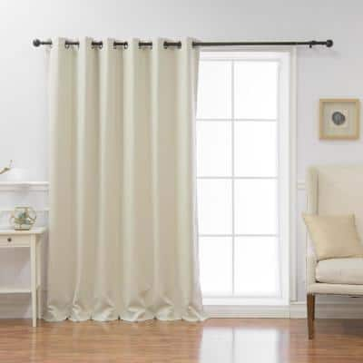 Ivory Grommet Blackout Curtain - 80 in. W x 84 in. L