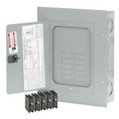 BR 125 Amp 12 Space 24 Circuit IndoorMain Lug Loadcenter with Cover Value Pack (includes 5-BR120)