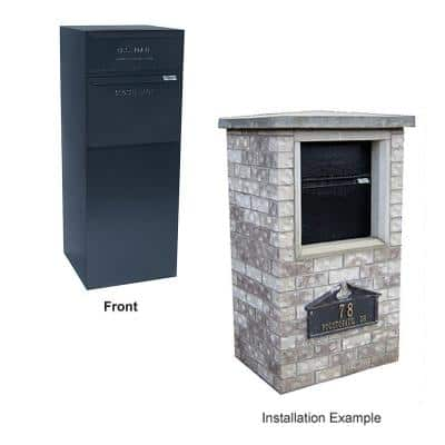 Full Service Vault Mailbox with Mail and Package Delivery in Black