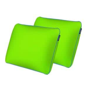 Standard All Position Memory Foam with Cool-to-the-Touch Cover - Lucky Green (Set of 2)
