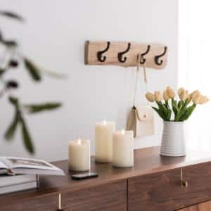 Ivory Dancing LED Flameless Pillar Candles (Set of 3)