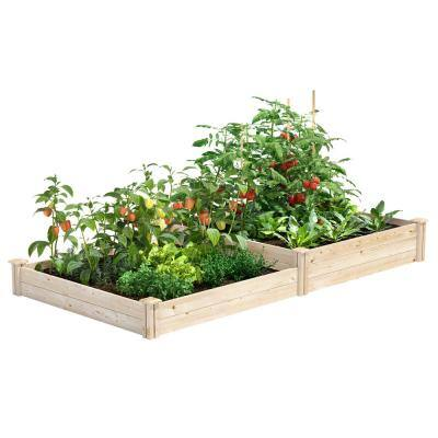 4 ft. x 8 ft. x 7 in. - 10.5 in. Original Pine Raised Garden Bed