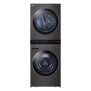 27 in. Black Steel WashTower Laundry Center with 4.5 cu. ft. Front Load Washer and 7.4 cu. ft. Gas Dryer