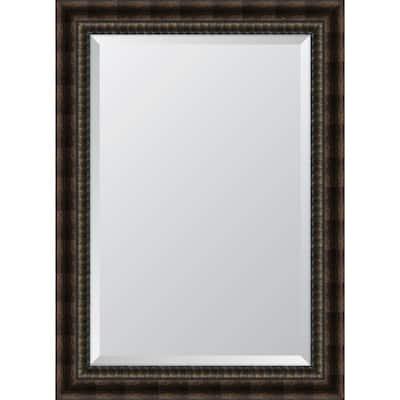 Medium Rectangle Bronze Beveled Glass Classic Mirror (31.5 in. H x 43.5 in. W)
