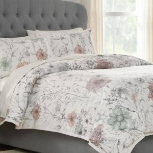 Sidney 3-Piece Clotilde Full/Queen Duvet Cover Set