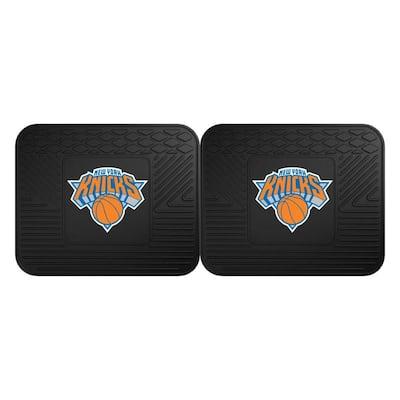 NBA New York Knicks Black Heavy Duty 2-Piece 14 in. x 17 in. Vinyl Utility Mat