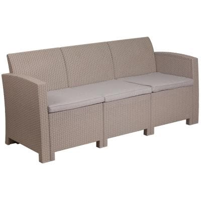 Gray Wood Outdoor Couch