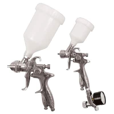 3-Piece HVLP Gravity Feed Spray Gun Kit