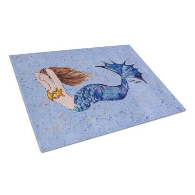 Mermaid Tempered Glass Large Cutting Board