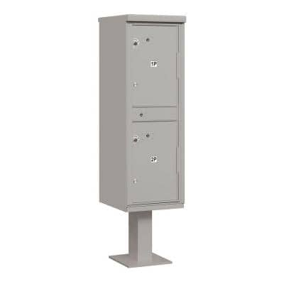 3300 Series USPS 2-Compartments Outdoor Parcel Locker in Gray