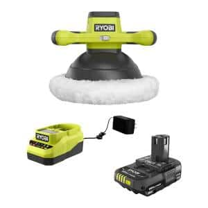 ONE+ 18V Cordless 10 in. Buffer Kit with (2) Buffet Bonnets, (1) 2.0 Ah Battery and Charger
