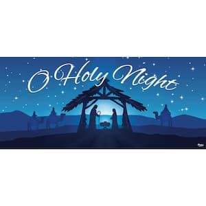 7 ft. x 16 ft. Nativity Scene O' Holy Night-Christmas Garage Door Decor Mural for Double Car Garage