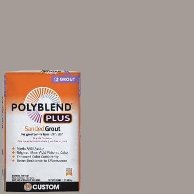 Polyblend Plus #542 Graystone 25 lb. Sanded Grout