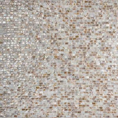 Conchella Subway Natural 12-1/4 in. x 12-1/2 in. x 2 mm Natural Seashell Mosaic Tile (1.06 sq. ft./Each)