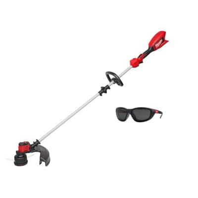 M18 18-Volt Lithium-Ion Brushless Cordless String Trimmer (Tool-Only) with Performance Polarized Safety Glasses