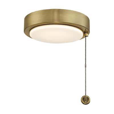 Antique Brass Ceiling Fan Dimmable LED Light Kit