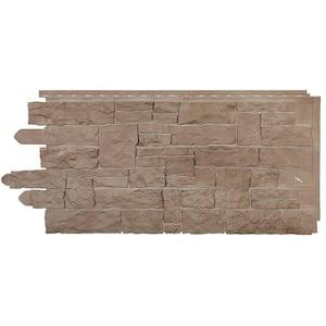 Stone SK - Stacked Stone 20.250 in. x 45 in. in Sand Blend (49.32 sq. ft. per Box) Vinyl Siding