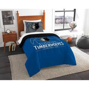Timberwolves 2-Piece Multi Color Polyester Reverse Slam Twin Comforter Set