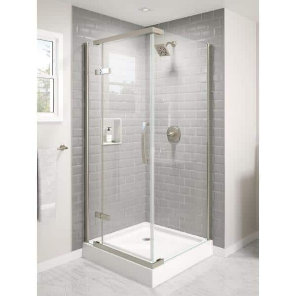 Delta Classic 36 In W X 76 H, Pictures Of Shower Stalls With Glass Doors